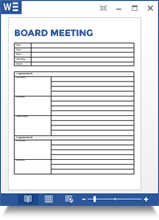 Board Meeting Agenda Template