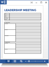 Leadership Meeting Agenda Template