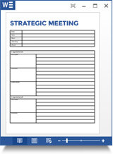 Strategic Meeting Agenda Template